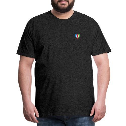 Silent Disco Love RGB | Headphone White - Männer Premium T-Shirt