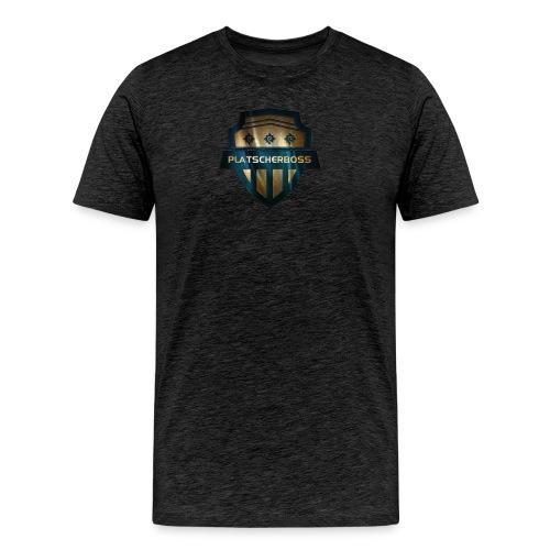 logoplatscherbossNEUHUGO png - Männer Premium T-Shirt