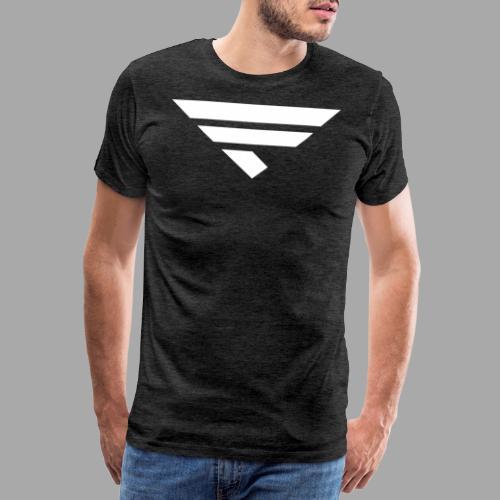 LOGO WHITE - Männer Premium T-Shirt