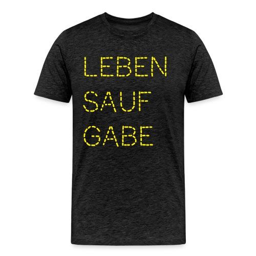 Lebensaufgabe - Männer Premium T-Shirt