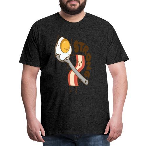 Speck Ei bacon egg breakfast Frühstück strong - Männer Premium T-Shirt