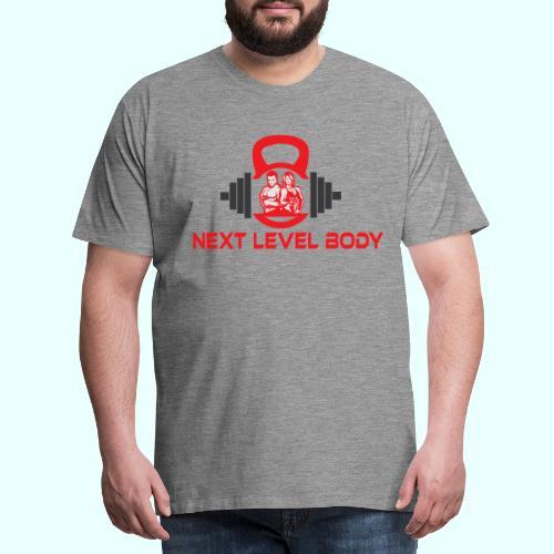NEXT LEVEL BODY - Miesten premium t-paita