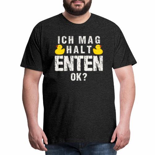 Ich mag halt Enten, Gelbe Ente Rubber Duck - Men's Premium T-Shirt