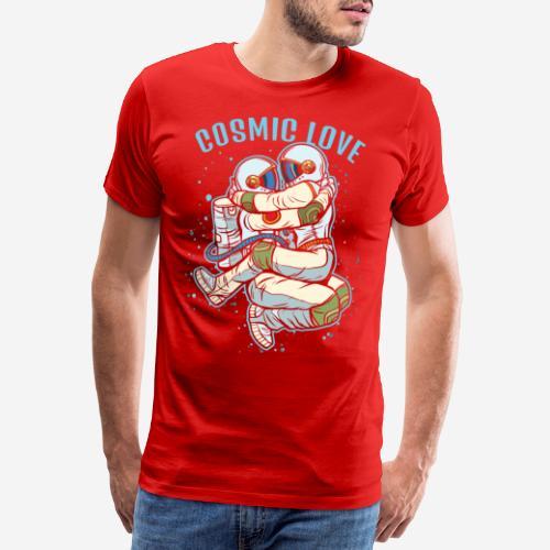 kosmische Liebe Astronautenraum - Männer Premium T-Shirt