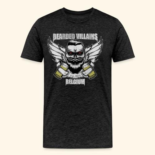 Bearded Villains Belgium - Men's Premium T-Shirt
