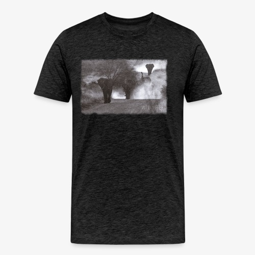Elephants - Wild & Free - Männer Premium T-Shirt