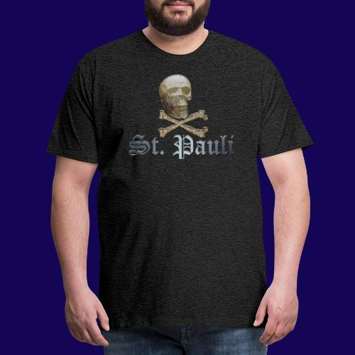 St. Pauli (Hamburg) Piraten Symbol mit Schädel - Männer Premium T-Shirt