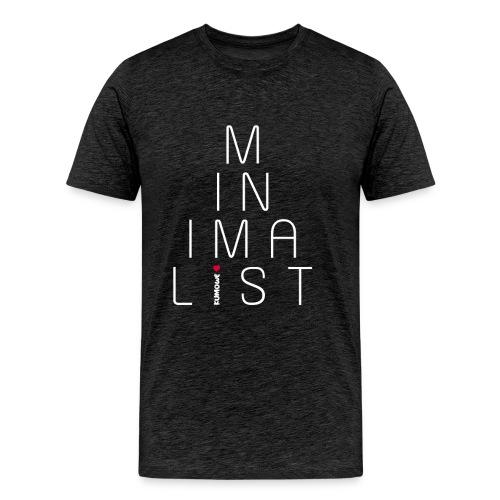 Minimalist- Minimalismus - Männer Premium T-Shirt