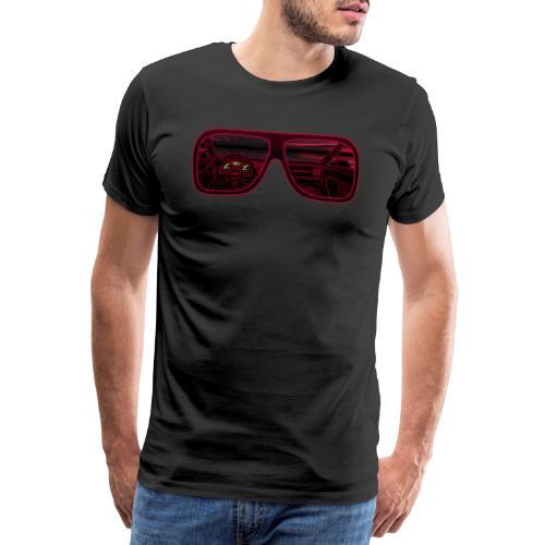 RETROVISION RED - Miesten premium t-paita