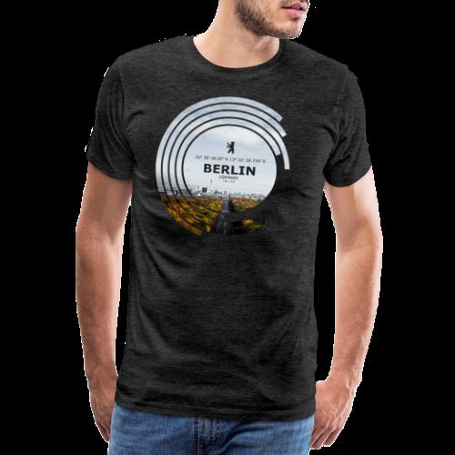Berlin City Skyline Geometrische Form Kreis - Männer Premium T-Shirt