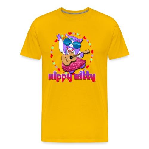 Hippy Kitty - Maglietta Premium da uomo