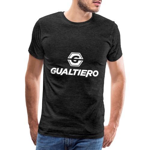 GUALTIERO LOGO WHITE - Mannen Premium T-shirt
