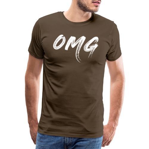 OMG, valkoinen - Miesten premium t-paita