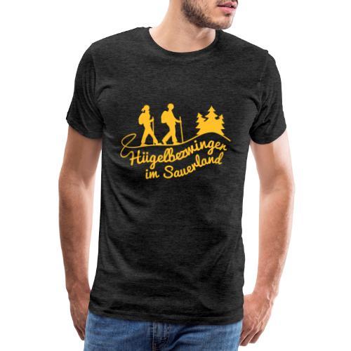 Hügelbezwinger Wanderer - Männer Premium T-Shirt