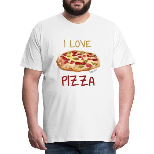 I love Pizza - Männer Premium T-Shirt