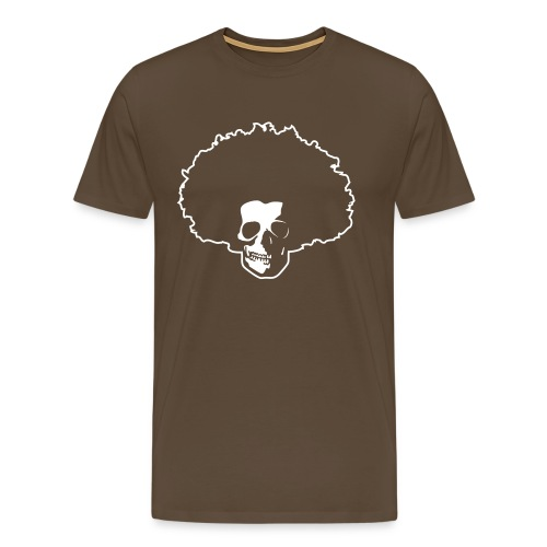 Afro Skull - Männer Premium T-Shirt