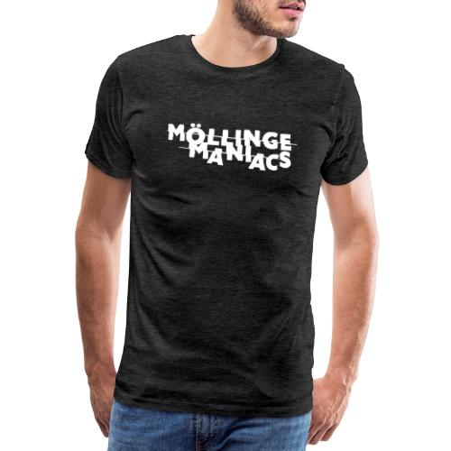 Möllinge Maniacs Vit logga - Premium-T-shirt herr