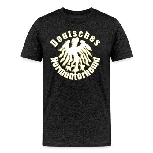 unnerhemd2 weiss png - Männer Premium T-Shirt