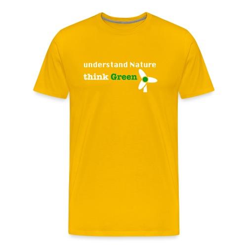 Understand Nature! And think Green. - Men's Premium T-Shirt