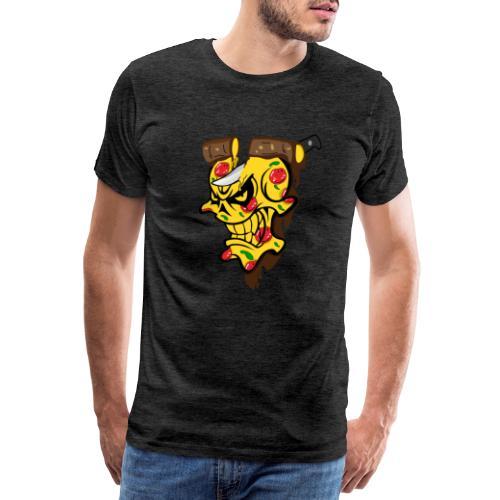 Pizza Schädel mit Messer - Männer Premium T-Shirt