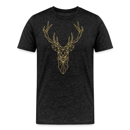 Hirschkopf Triangel-Design gold - Männer Premium T-Shirt