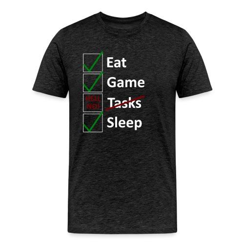 Schedule Shirt White Version - Männer Premium T-Shirt