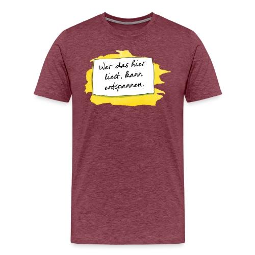 Janosch Wer Das Liest Spruch - Männer Premium T-Shirt