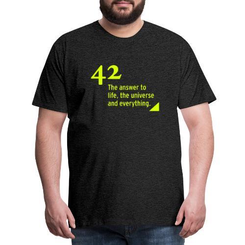 42 - the answer - Männer Premium T-Shirt