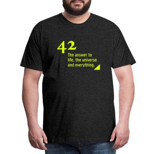 42 - the answer to life, the universe & everything - Männer Premium T-Shirt