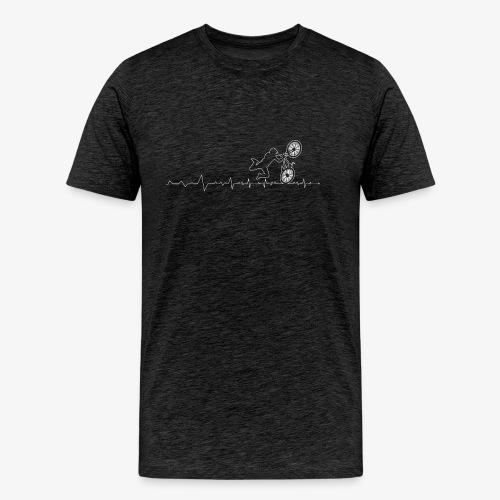 Bicycle Cross BMX Heartbeat - Men's Premium T-Shirt