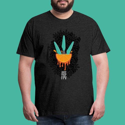 JuicePropFPV LOGO Pile Black - Männer Premium T-Shirt