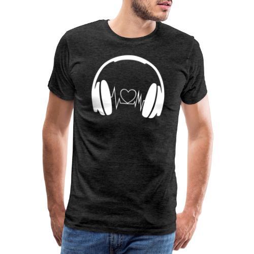 headphone - Männer Premium T-Shirt