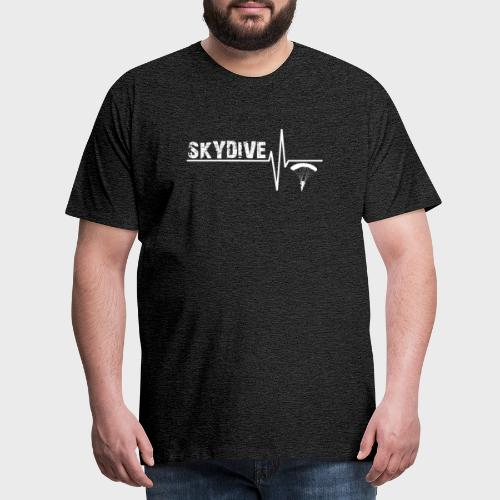 Pulse White - Männer Premium T-Shirt