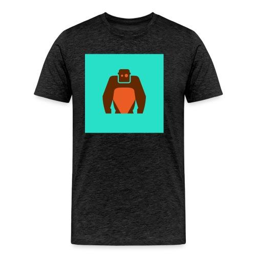 KielerKletterKeller e V Button Orange - Männer Premium T-Shirt