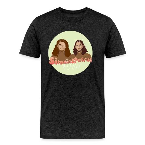Simon och Petrus fikar - Premium-T-shirt herr