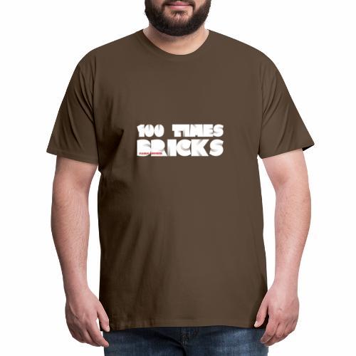 100 TIMES BRICKS retrò - Maglietta Premium da uomo