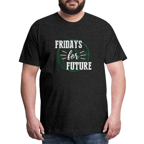 Fridays for Future -withe- - Männer Premium T-Shirt