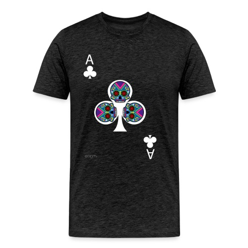 Ace of clubs - The skulls players - T-shirt Premium Homme