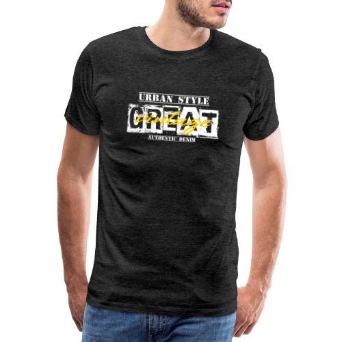 GREAT vintage WHITE - Männer Premium T-Shirt