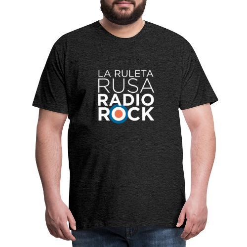 La Ruleta Rusa Radio Rock. Retrato blanco - Camiseta premium hombre