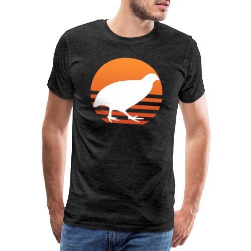 Retro Wachtel Geschenkidee Design Wachteln Logo - Männer Premium T-Shirt