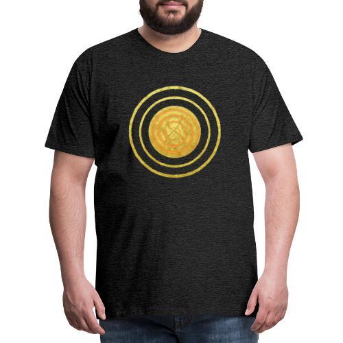 Glückssymbol Sonne - positive Schwingung - Spirale - Männer Premium T-Shirt