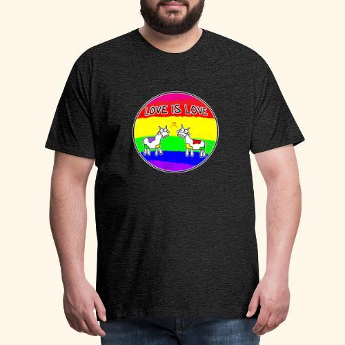Love is Love! mit Kuhi und Muhi - Männer Premium T-Shirt