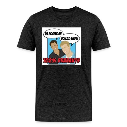 rogierenfonzzshow blauw 2 - Mannen Premium T-shirt