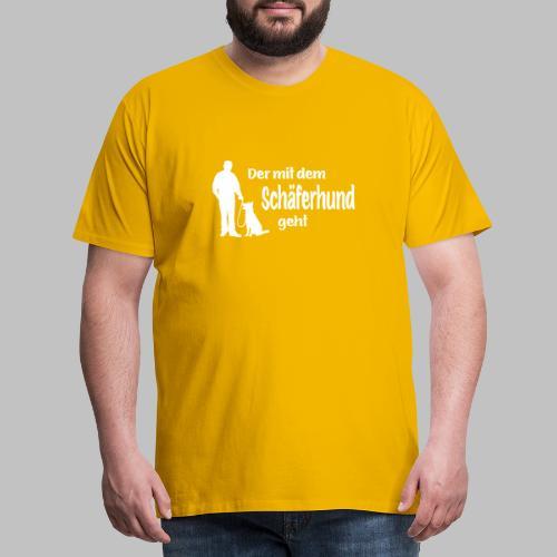 Der mit dem Schäferhund geht - White Edition - Männer Premium T-Shirt
