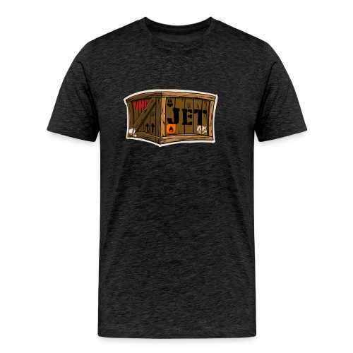 Jet Cartoon Wood Box - Männer Premium T-Shirt