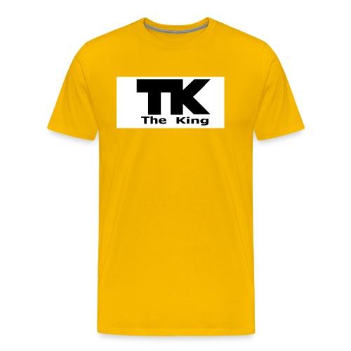 The King med ram - Premium-T-shirt herr