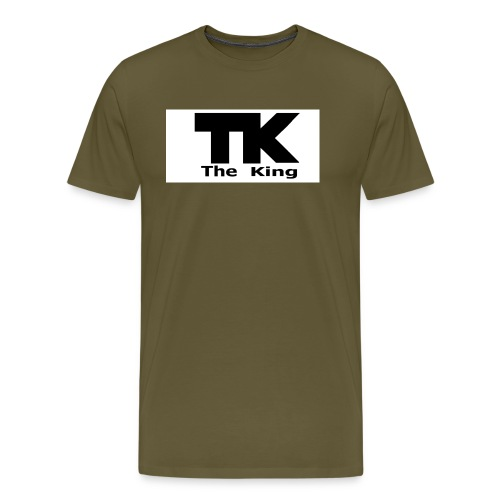 The King med ram - Premium-T-shirt herr