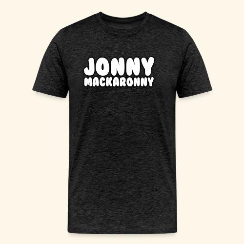 JonnyMackaronny Tekst - Premium T-skjorte for menn