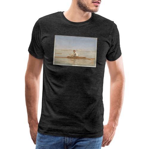 John Biglin in a Single Scull - Thomas Eakins - T-shirt Premium Homme